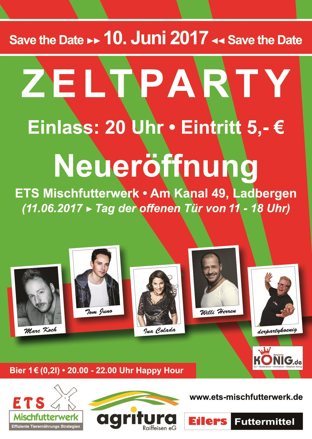 Handzettel ETS Zeltparty